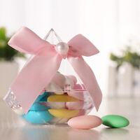 Diamond Shape Transparent Plastic Candy Box Case Wedding Favor Party Home Dec Hw