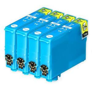 4 Cyan Ink Cartridges for Epson Stylus S22, SX230, SX425, SX435W, SX445W