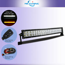 21.5 inches120W Amber White Dual Color Strobe  SPOT Flashing LED Light Bar Truck