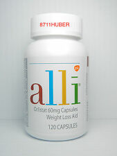 NEW ALLI ORLISTAT 120 CAPSULES BRAND NEW BOTTLE FREE SHIP WORLDWIDE