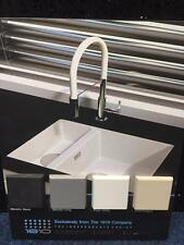 Sink Undermount Quartz Bowl and half in Black, Grey, White & Champagne P+P Incl
