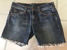 Calvin Klein Women's Cut Off Denim Shorts Jeans Blue W27 Size 8 Summer Holiday