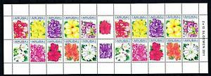 [ARV514] Aruba 2011 Flowers Blumen Fleurs Miniature Sheet MNH