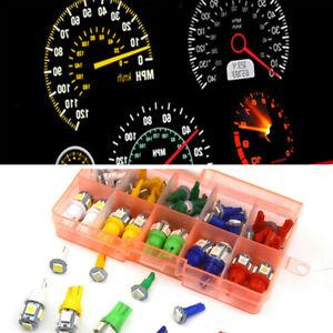 40x T5 T10 5050 SMD Car Dashboard Instrument Interior LED Tail Light Bulbs Set