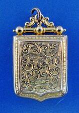 KEY TO MY HEART 14k Yellow Gold Locket Pendant Victorian Circa 1900s