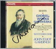 John Eliot GARDINER Signiert BRAHMS Liebeslieder-Walzer Weltliche Gesänge CD