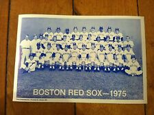 1975 BOSTON RED SOX TEAM PHOTO 8 X 12 VINTAGE RARE QTY