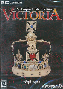 VICTORIA AN EMPIRE UNDER THE SUN 1836-1920 Europa Strategy PC Game - BRAND NEW!