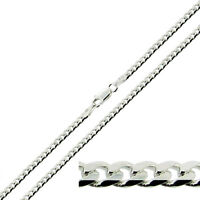 "Solid 925 Sterling Silver 18 20 22 24 26 28 30"" Inch 3.2mm Curb Link Chain"
