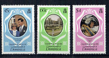 DOMINICA 1981 ROYAL WEDDING SET OF ALL 3 Perf 14.25 MNH