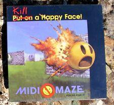 MIDI Maze/Kill A Happy Face for Atari 520/1040 ST New NIB multi computer