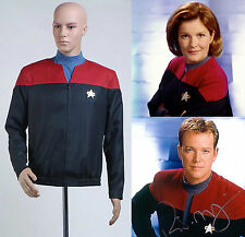 Star Trek Voyager Command Captain Red Shirt Cosplay Costume Uniform Jacket Suit