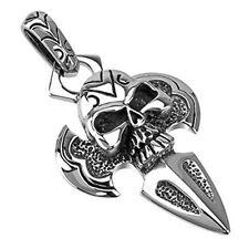 Stainless Steel Skull Dagger Pendant P107