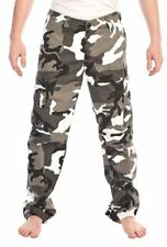 Mens Fashion Colour black white Camouflage Camo Cargo Combats Pants Trousers