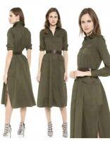 Dsquared2 Women Military Beautiful Khaki Dress Sz:38. $1445