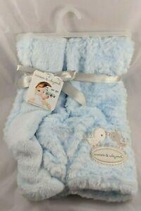 "Blankets & Beyond Blue Birds Dots Baby Blanket 28"" x 32"""