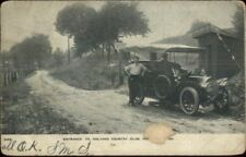 Holyoke MA Old Car Country Club Entrance c1910 Postcard - Damaged