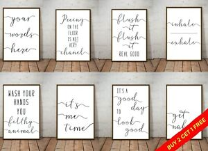 Bathroom Prints Infinity Wall Art Funny Poster. Quality Toilet Home Spa Picture