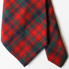 Winter Lochcarron Robertson Red Scottish Tartan Plaid Tie Wool