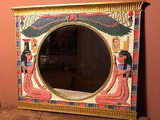 Mirror 3-D Egyptian Hieroglyphics Round Mirror
