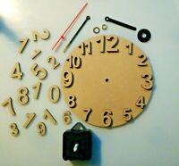 MDF Kreis Wand Uhr & Bewegung Zum Basteln, Decoupage, Decopatch und Brandmalerei