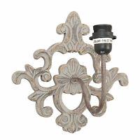 Wandlampe Retro Lampe Metall Holz E 27  29x29x22cm Shabby Vintage Landhaus