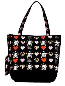 Betty Boop Stars & Hearts Tote Bag Purse