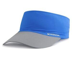 Mission Cooling Stretchy Visor - Lightweight, No Slip Band, UPF 50 - Blue