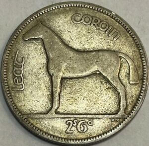 IRELAND - 1/2 - Half Crown 1931 - Km-8 - Large Silver Coin