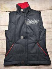 Pearl Izumi Black Big Buttoned puffer Vest Size S