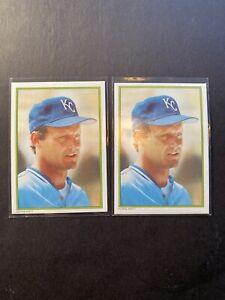 (2) GEORGE BRETT Kansas City Royals 1986 Topps All Star Set #18 Lot