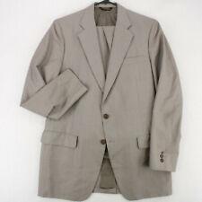JOHN WEITZ Vtg 80s 90s Gray Windowpane 2PC Suit Jacket Pants Men's 42L 35X31