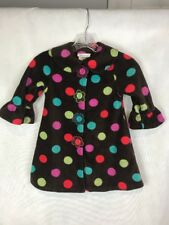 Bonnie Jean Girl's Size 3T Coat Fleece Brown Polka Dot Snap Front