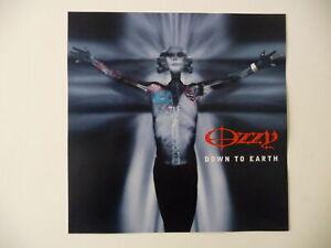 OZZY OSBOURNE-Down To Earth [12 x 12] promo poster flat 2001 EPIC ZAKK WYLDE