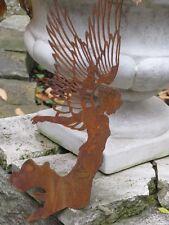 Edelrost Engel Aurelie zum Hängen, 55 cm Metall Dekoengel Hängeengel Dekofigur