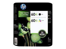 HP 60 Black / 60XL Tri-color - Set of 2 Ink Cartridges