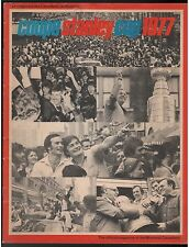 1977 COUPE STANLEY CUP MONTREAL CANADIANS OFFICIAL MAGAZINE FRENCH