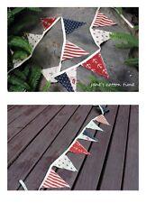 BN Nautical Shabby Chic Fabric Bunting Garland Anchors,Boats,Dots,Stripes