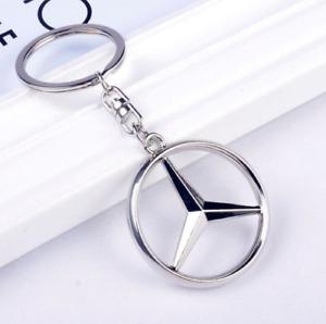 Llavero Mercedes, logotipo, emblema, buena calidad, llaveros, Keyring, Keychain
