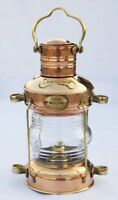 Antique Anchor Oil Lamp Brass & Copper Nautical Maritime Ship Lantern Boat Light