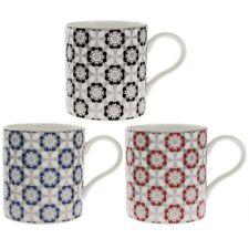Set di 3 Marrakech Cina Fine Tazza da caffè caldo Floreale MOKA Cappuccino tazze da tè