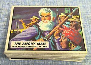 1962 Topps Civil War News Cards Lot of 45 cards No Duplicates Vg-Ex