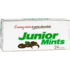 Junior Mints Chocolate Mint Candy 1.84 oz box 24 ct