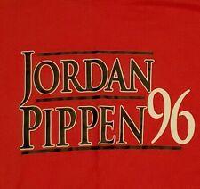 "Michael Jordan Scottie Pippen ""For President 96"" T-Shirt XXL"