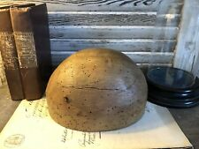 More details for beautiful vintage wooden milliners head block hat stand antique display no 2