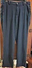 Tommy Bahama flat front chino style navy blue silk pants SZ 32 x 31