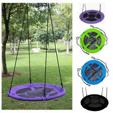 40'' Children Outdoor Round Hanging Rope Nest Tree Swing Kids Garden Yard Toys