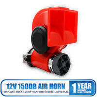 12 V 150DB Dual Tone Car Air Horn Blast Compact Compressor Bus Van Motorcycle