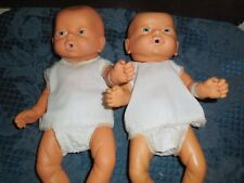 VINTAGE UNBRANDED PREEMIE TWINS BOY AND GIRL BABY DOLLS LIFE LIKE