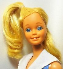 Mattel 1980 My First Barbie Doll Blue eyes Twist n Turn Blue dress white collar